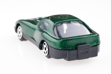 model sports car close up