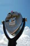 coin operated binoculars poster