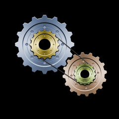 gears with belt (color version)