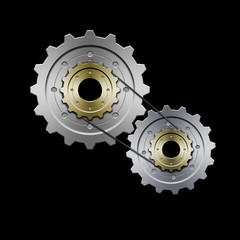 gears with belt (grey)