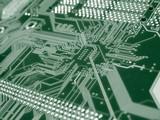 green computer circuit board poster