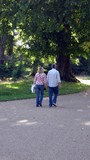 couple/lovers walking together hand in hand poster