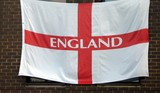 england flag.the flag of england. poster