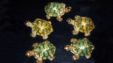 turtles made of glass. home decoration poster