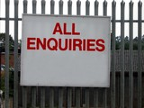 all enquiries sign poster