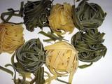 flat ribbon pasta poster