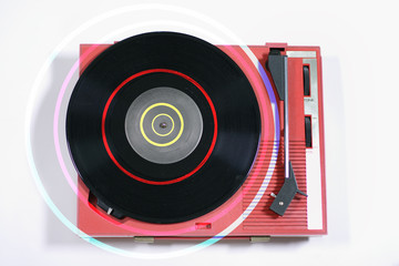 red record player