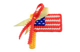 american flag with symbol poster