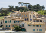 houses in a mediterranean scenery poster