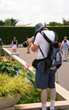 photographer with telephoto zoom