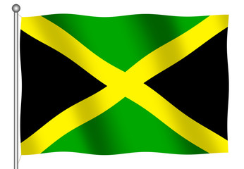jamaican flag waving