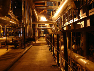 pipes on electric plant