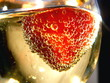 strawberry + bubbles + champagne