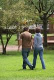 walking couple poster