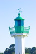 green lighthouse