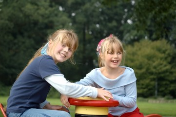 two young girls at the playground