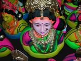 idols of hindu goddess gowri poster