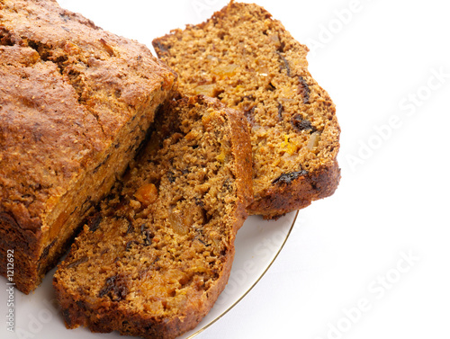 fresh ginger and fruit tea  bread