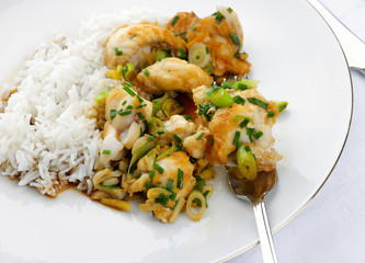 delicious fresh monkfish meal