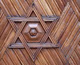 jewish symbol - star of david poster