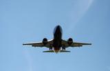 landing aeroplane poster
