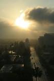 pasadena,california,sunsise,cityscape,skyline,clou poster