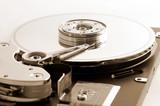 computer hard disk drive poster