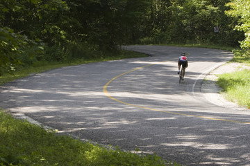 cyclist on curve