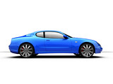 side view of a 3d rendered sports car poster