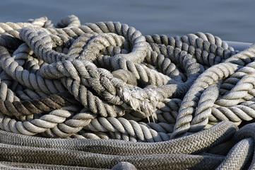 marine rope on the dock