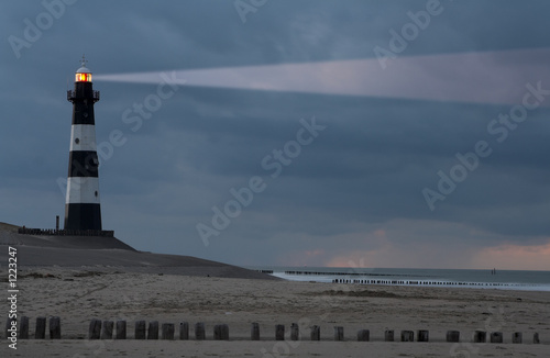 lighthouse in the dusk - 1223247