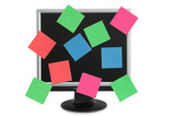 postit in the monitor poster