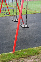 swingset in the rain