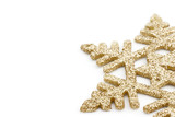 golden snowflake poster