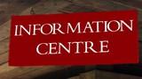information centre sign poster