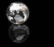 wiireframe metallic globe