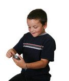 child checking blood sugar levels poster