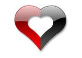 heart of love (2 halfs) poster