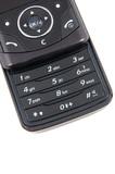 keypad of black mobile phone poster