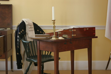 early 19th century british desk and chair