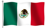 flag of mexico waving poster