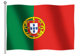 flag of portugal waving poster