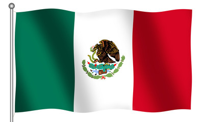 flag of mexico waving