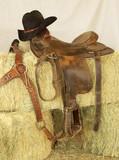 saddle & hat poster