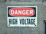 danger high voltage sign poster