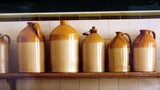 jars of clay/crockery/kitchen utensil/containers.j poster