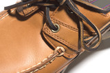 rugged quality leather moccasin poster