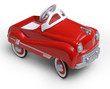 1950's era red toy car