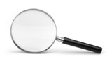 magnifying glass on white poster