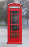 red london phone booth-